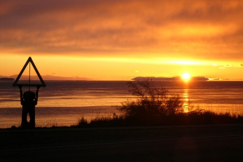 Beautiful sunset in Campbell River